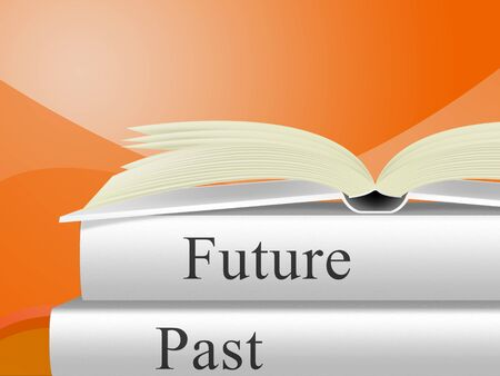 Future Versus Past Book Comparing History With Upcoming Events. The Chance Of Improvement, Progress And Evolution - 3d Illustration