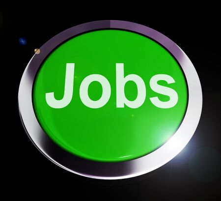 Jobs concept icon means a career or position in employment. Recruitment and workplace unemployment shown - 3d illustration
