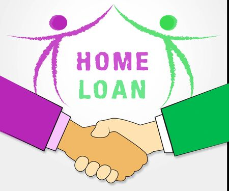Home Loan Process Icon Depicts Mortgage Stages For Borrowing Money. Financial Property Purchase Method Advisor  - 3d Illustration