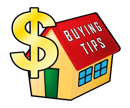 House Buying Advice Tips Icon Portrays Hints On Purchasing Property. Help And Success Negotiating Real Estate Ownership - 3d Illustration Banque d'images - 124927326