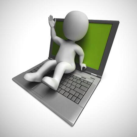 La connexion Internet signifie l'accessibilité du Web et la connexion en ligne. Accès virtuel aux données et informations - illustration 3d