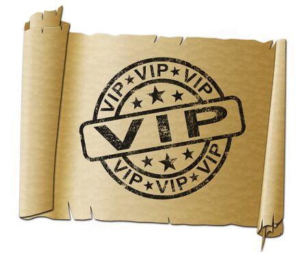 VIP means very important person or exclusive and delete. Restrictive product limited to a group of people - 3d illustration Reklamní fotografie