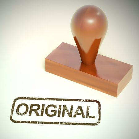 Original stamp means authentic genuine and real. An honest product verified and validated - 3d illustration