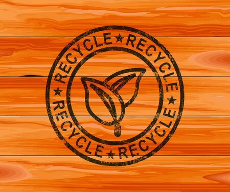 Recycle concept icon means to reuse or reprocess products. Sustainable and eco-friendly utilisation - 3d illustration