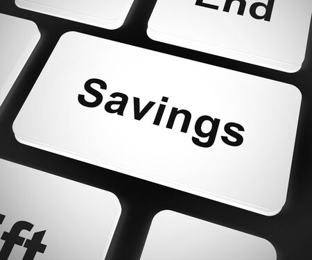 Savings concept icon means a good bargain at reduced price. A mark down on the regular price - 3d illustration
