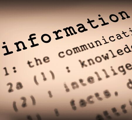 Information concept icon means info or data and Intelligence. Expertise or knowhow on a database - 3d illustration