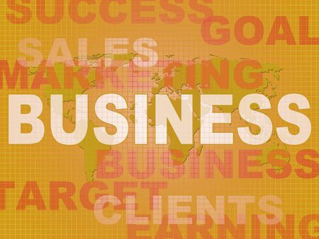 Business concept icon shows trade and Enterprise in a company. Commerce and commercial work in an industry or profession - 3d illustration