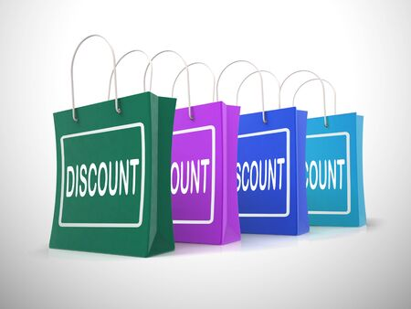 Sale discounts concept icon means markdown price. Low-cost bargains and promotional offers - 3d illustration