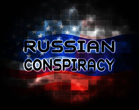 Russian Conspiracy Scheme Design. Politicians Conspiring With Foreign Governments 3d Illustration. Complicity In Crime Against The Usa