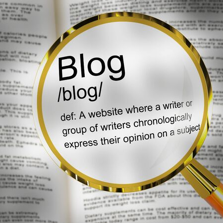 Blog or blogging website icon showing online journals and writing. Weblog journalism for information and help - 3d illustration