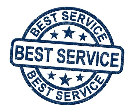 Best service concept icon shows first class support in business. Reliability and assurance from top rate companies - 3d illustration Stock Photo