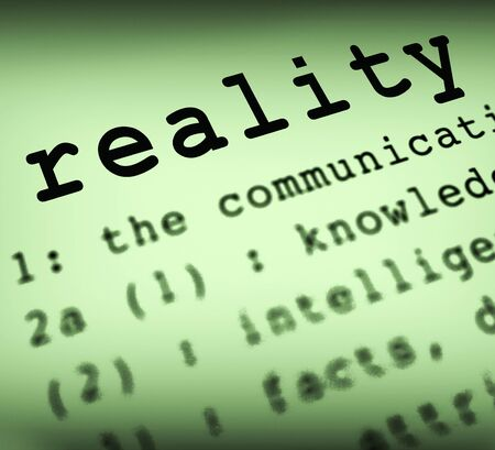 Reality concept icon memes realism and transparency. Fact and truth rather than virtual reality - 3d illustration