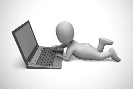Internetverbinding betekent webtoegankelijkheid en online verbinding. Virtuele toegang tot gegevens en informatie - 3d illustratie Stockfoto