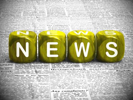 News concept icon means breaking stories and newsflash. Journalistic comments and global reports - 3d illustration