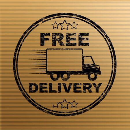 Free delivery of goods at no charge means nothing paid. Shipping price included in the selling amount - 3d illustration Stock Photo
