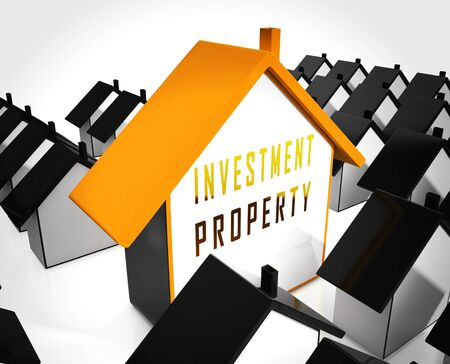 Investment Property Australia Icon Depicts Real Estate Purchases Or Investments. Buying Australian Houses Or Homes - 3d Illustration