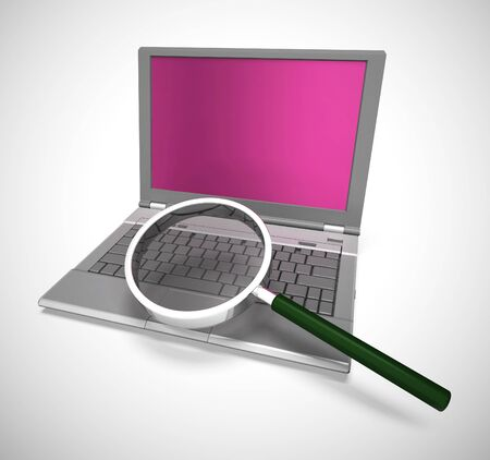 Internet connection means web accessibility and online connection. Virtual access to data and information - 3d illustration Stock Photo