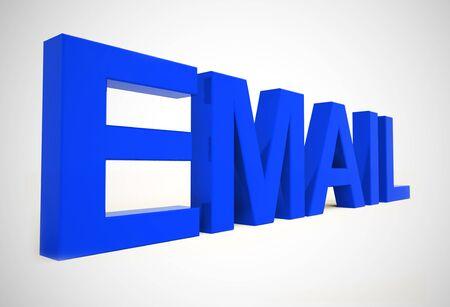 E-mailconceptpictogrammen betekent elektronische postcorrespondentie via internet. Online berichten verzenden betekent snelle communicatie - 3d illustratie
