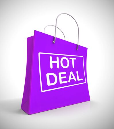 Hot deal concept icon means special promotions and sale. Discount offers and promo reductions - 3d illustration