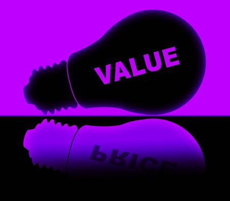 Price Versus Value Lights Demonstrating Product Evaluation Of Cost And Worth. Budgeting Of Buying And Selling - 3d Illustration