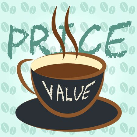 Price Vs Value Words Comparing Cost Outlay Against Financial Worth. Product Pricing Strategy Or Investment Valuation - 3d Illustration Stok Fotoğraf