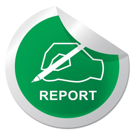 Impact Report Badge Shows A Summary Or Writing Of Evidence And Results 3d Illustration. Business Data Or Political Information