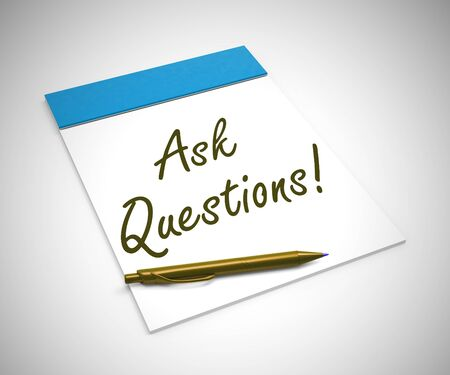 Ask questions concept icon to show help and advice. Online training and information on a helpline or hotline - 3d illustration