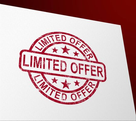 Limited offer discounts icon shows exclusive and special promotions. Bargain at a retail shop - 3d illustration