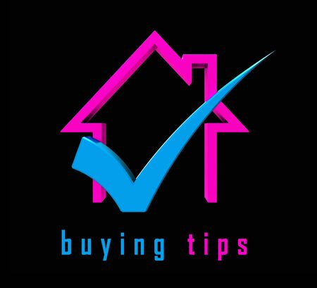 House Buying Advice Tips Icon Portrays Hints On Purchasing Property. Help And Success Negotiating Real Estate Ownership - 3d Illustration Banque d'images - 124929942
