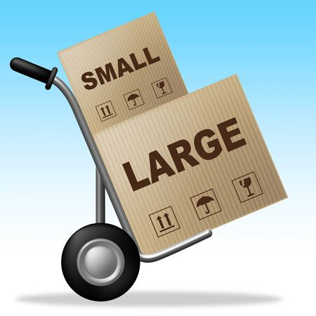 Small Vs Large Package Shows Trade Variation Or Shipping And Delivery. Product Size And Scale Difference - 3d Illustration