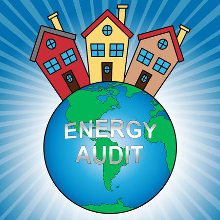Home Energy Audit Icon Shows Saving Power And Reducing Costs. Conservation Of Electricity And Heat Evaluation - 3d Illustration