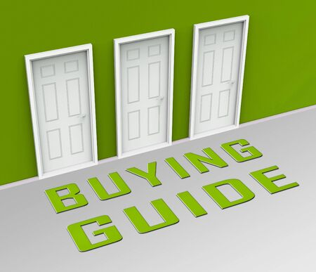 Home Or House Buying Guide Door Means Real Estate Guidebook For Purchasing Investments Or Accomodation - 3d Illustration