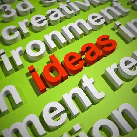 Ideas Concepts icon means brainwave or brilliant thoughts and plan. Genius Concepts through research and thinking - 3d illustration Stock Photo