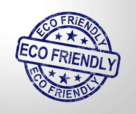 Eco-friendly concept icon means environmentally natural. Protection of the earth and recycling - 3d illustration