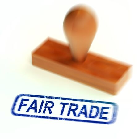 Fairtrade concept icon means equitable dealings with suppliers. Fairness in dealing with producers buy commercial Enterprises - 3d illustration