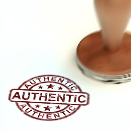 Authentic or genuine product concept icon representing real things. Verifying and identifying items - 3d illustration