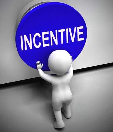 Incentive concept icon Means giving encouragement through enticement. A reward to get work completed - 3d illustration