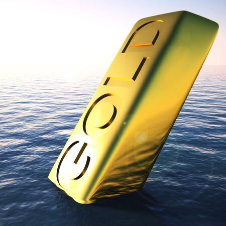 Gold bars mean wealth treasure and Riches. Ingots of bullion used for reserve money - 3d illustration Reklamní fotografie