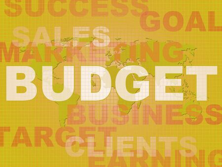 Budget of finances concept icon shows account planning.  Expenses or costs for a successful business - 3d illustration