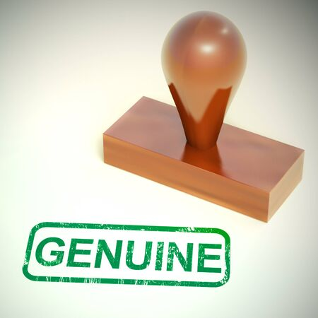 Genuine concept icon means authentic true or real. Truly tested to be honest - 3d illustration