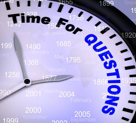 Time for questions concept icon to show help and advice. Online training and information on a helpline or hotline - 3d illustration