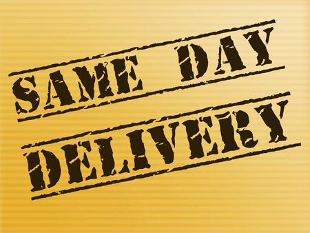 Same-day delivery means 24-hour Express service. Courier company or package transportation immediately - 3d illustration