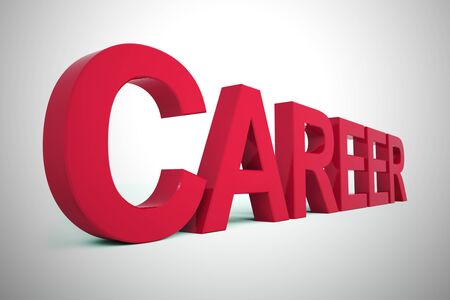 Careers advice and guidance on vocation or occupation. Help choosing a career path or line of work - 3d illustration Imagens - 128085154