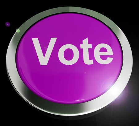 Vote concept icon means casting a choice in an election. In favour or in support of one candidate - 3d illustration