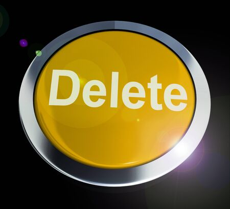Delete button icon concept means erase or remove data. Wipe away or purge unwanted information - 3d illustration