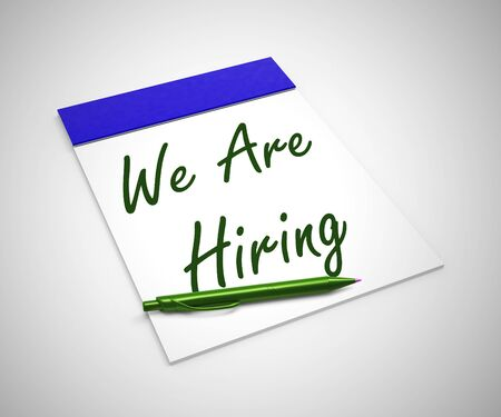 We are hiring no means jobs available. A career placement needs filling - 3d illustration