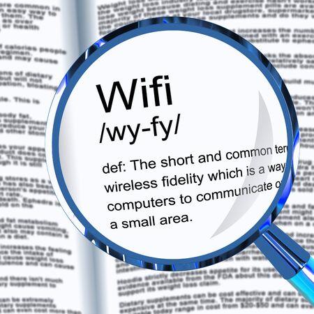 L'icône du concept WiFi signifie l'accès à la connexion Internet sans fil. Connecté au Web à l'aide d'Airwaves - illustration 3d