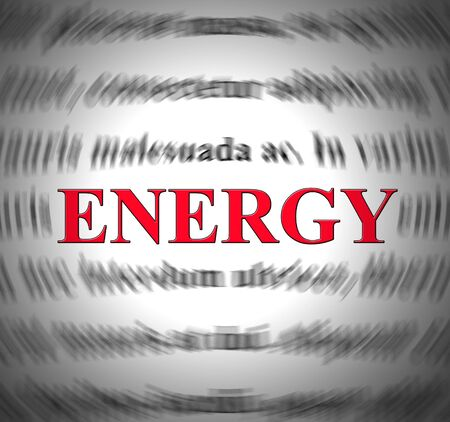 Energy concept icon depicts buzz and excitement for promotion. Publicity and exposure to promote website - 3d illustration Foto de archivo - 128085634