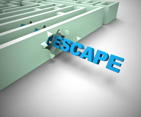 Escape flee and break away from jail To Freedom. A prisoner escaped from confinement - 3d illustration