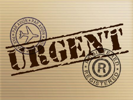 Urgent concept icon means important significant and essential. An imperative project needs to be done - 3d illustration Foto de archivo - 128085636